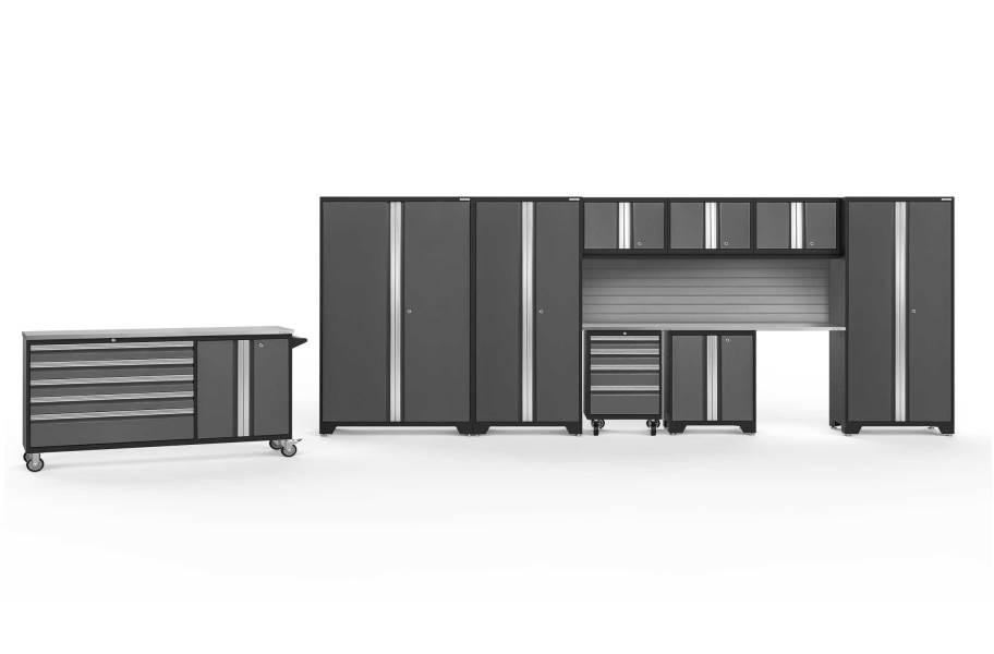 NewAge Bold Series 10-PC Cabinet Set - Gray / Steel