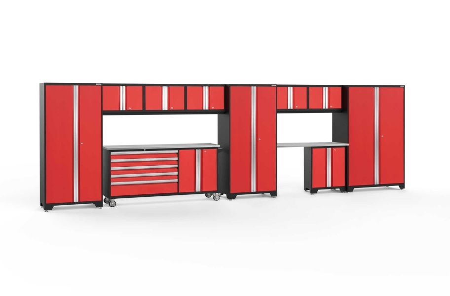 NewAge Bold Series 11-PC Cabinet Set - Red / Steel