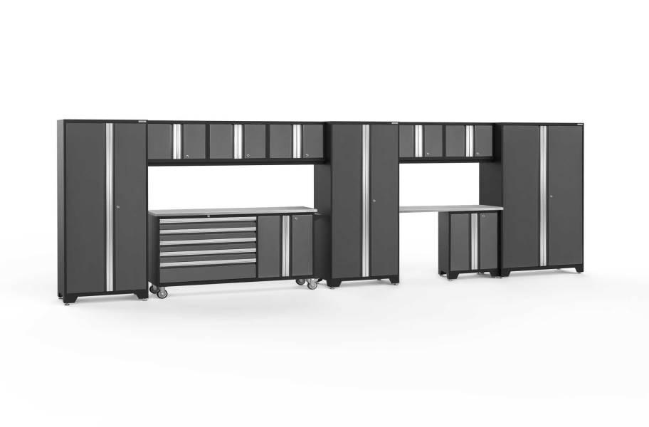 NewAge Bold Series 11-PC Cabinet Set - Gray / Steel