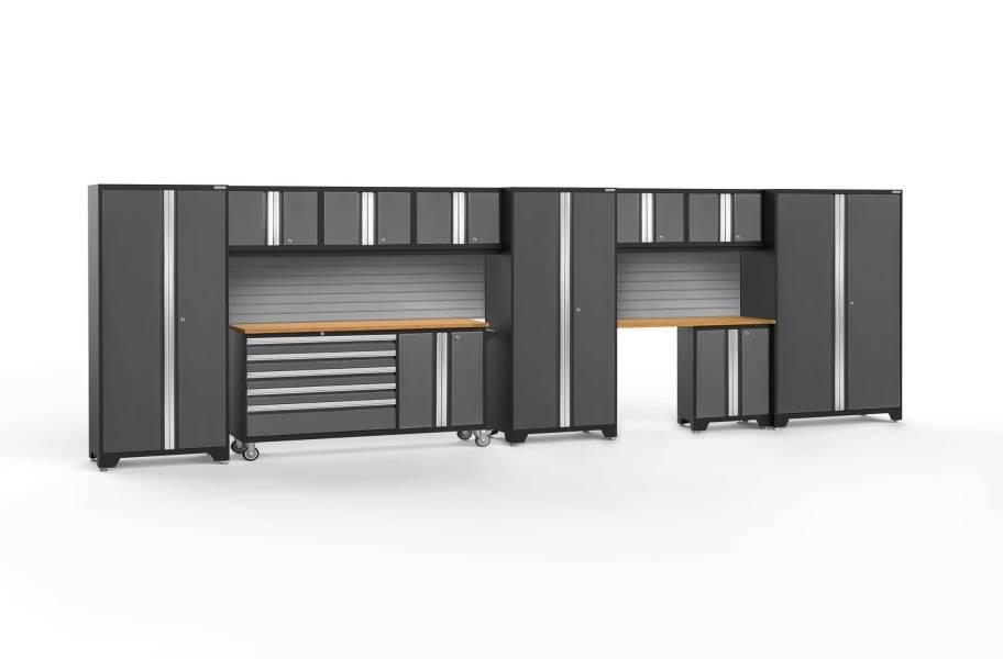 NewAge Bold Series 11-PC Cabinet Set - Gray / Bamboo