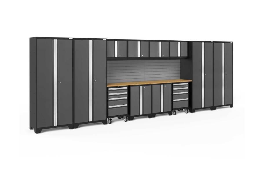 NewAge Bold Series 14-PC Cabinet Set - Gray / Bamboo