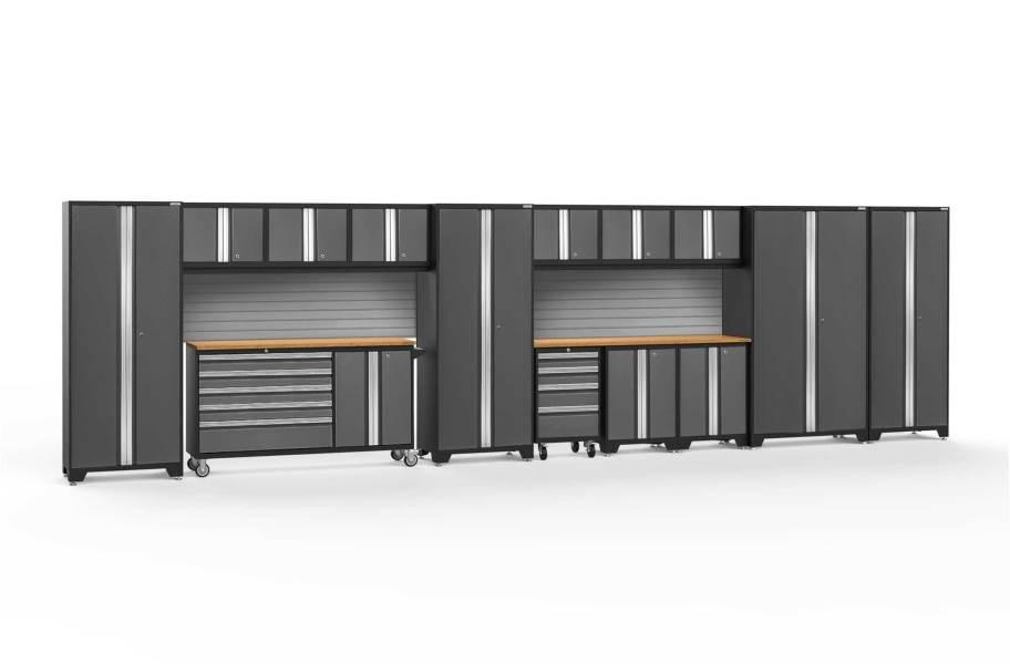 NewAge Bold Series 15-PC Cabinet Set - Gray / Bamboo