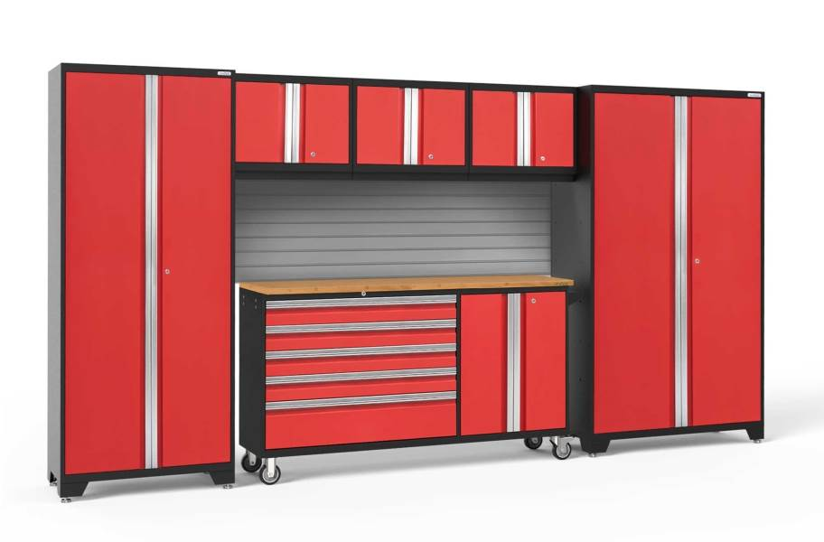 NewAge Bold Series 6-PC Cabinet Set - Red / Bamboo