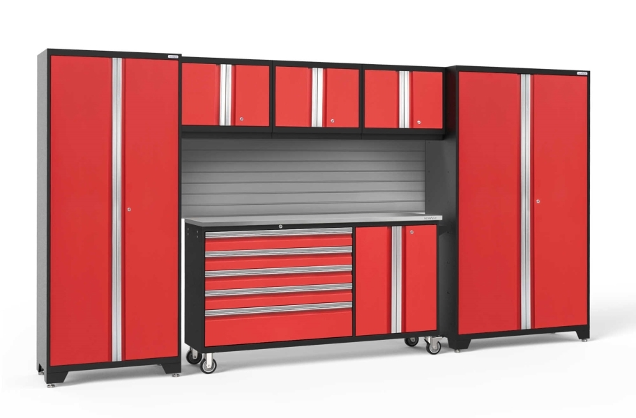 NewAge Bold Series 6-PC Cabinet Set - Red / Steel