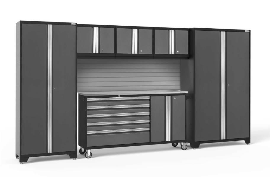 NewAge Bold Series 6-PC Cabinet Set - Gray / Steel