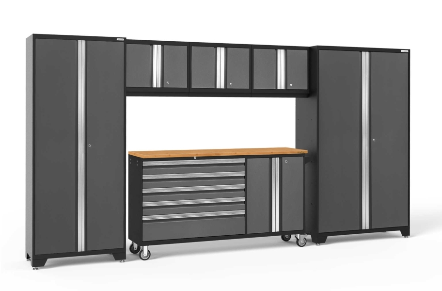 NewAge Bold Series 6-PC Cabinet Set - Gray / Bamboo