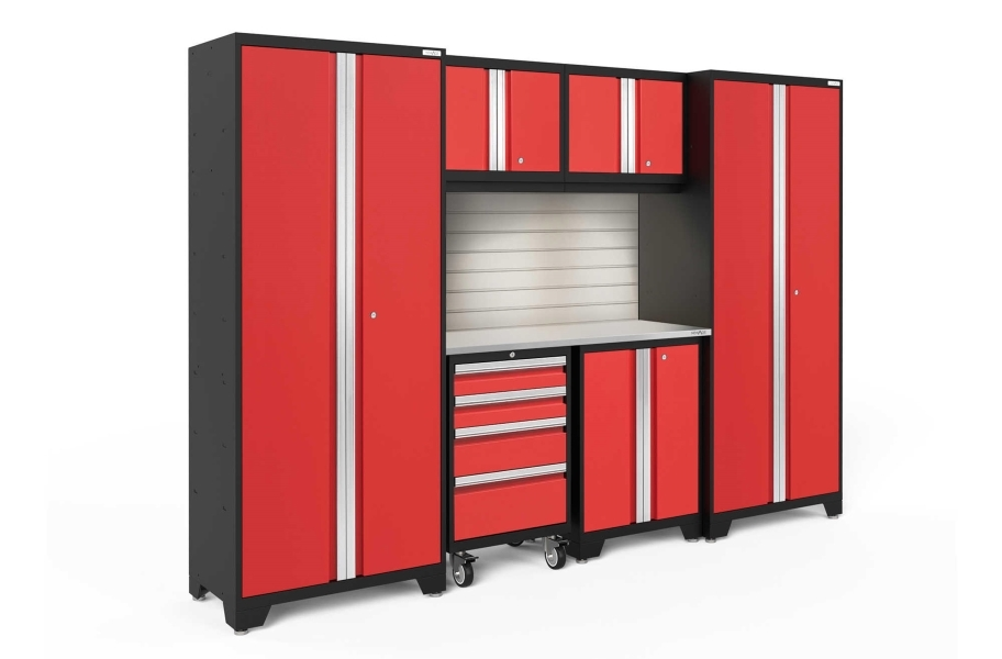 NewAge Bold Series 7-PC Cabinet Set - Red / Steel