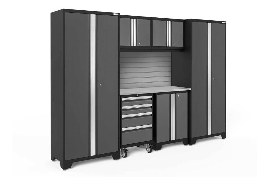 NewAge Bold Series 7-PC Cabinet Set - Gray / Steel