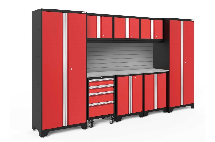 NewAge Bold Series 9-PC Cabinet Set - Red / Steel