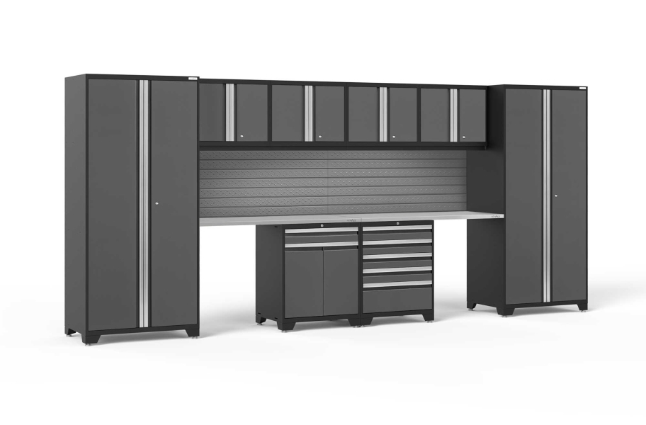 NewAge Pro Series 10-PC Cabinet Set - Gray / Bamboo