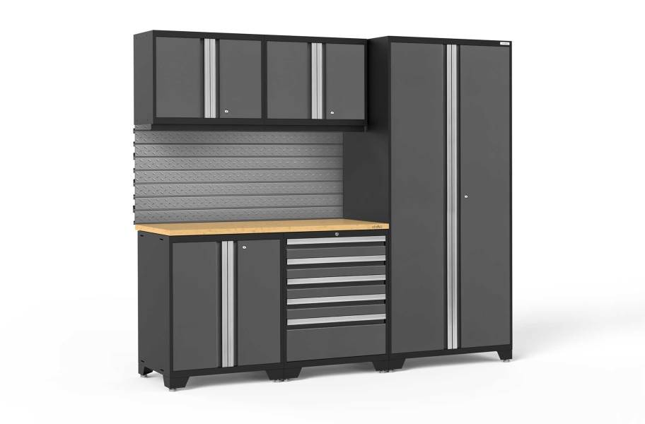 NewAge Pro Series 6-PC Cabinet Set - Gray / Bamboo