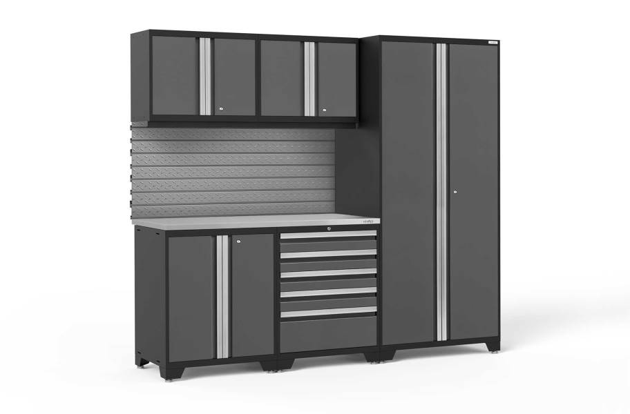 NewAge Pro Series 6-PC Cabinet Set - Gray / Steel