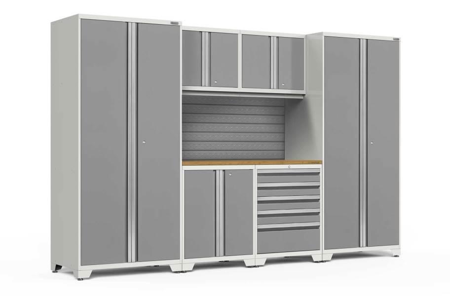 NewAge Pro Series 7-PC Cabinet Set - White / Bamboo