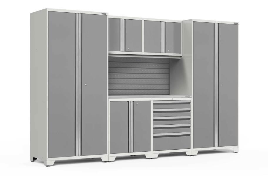 NewAge Pro Series 7-PC Cabinet Set - White / Steel