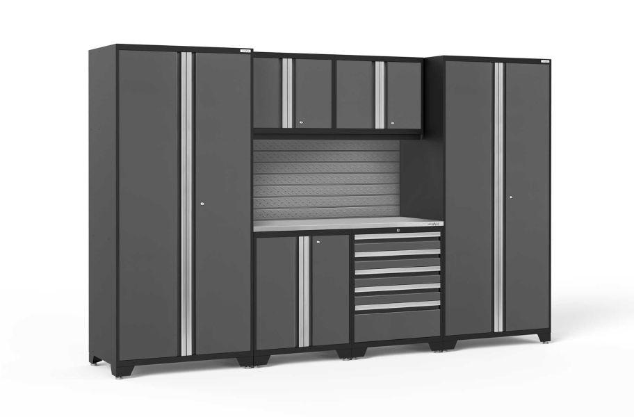 NewAge Pro Series 7-PC Cabinet Set - Gray / Steel