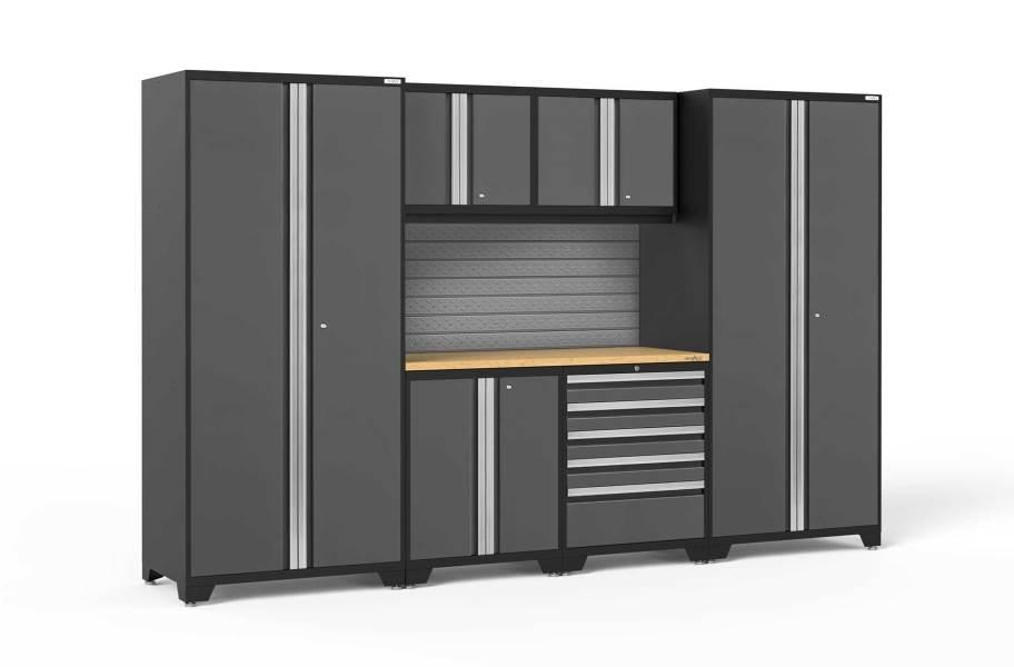 NewAge Pro Series 7-PC Cabinet Set - Gray / Bamboo