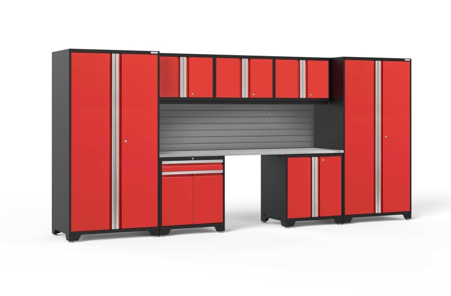 NewAge Pro Series 8-PC Cabinet Set - Red / Steel