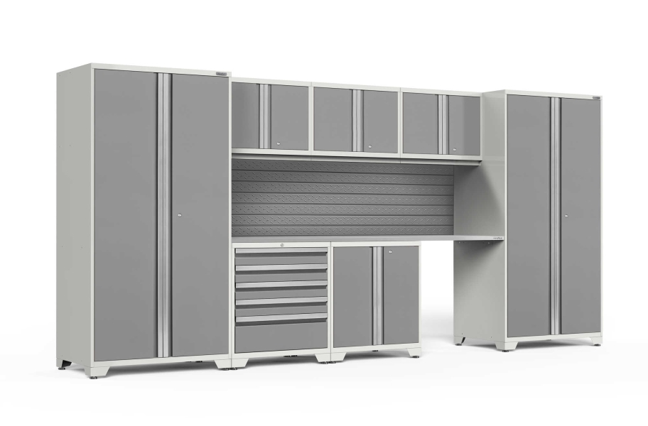 NewAge Pro Series 8-PC Cabinet Set - White / Steel