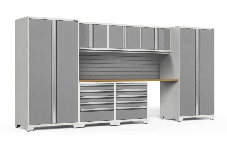 NewAge Pro Series 8-PC Cabinet Set - White / Bamboo