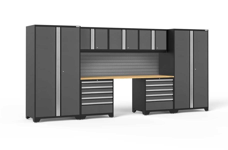 NewAge Pro Series 8-PC Cabinet Set - Gray / Bamboo