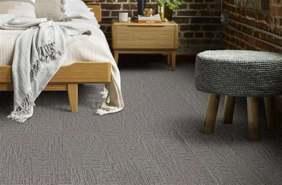 Shaw Floorigami Nature's Linen Carpet Plank - Nightfall