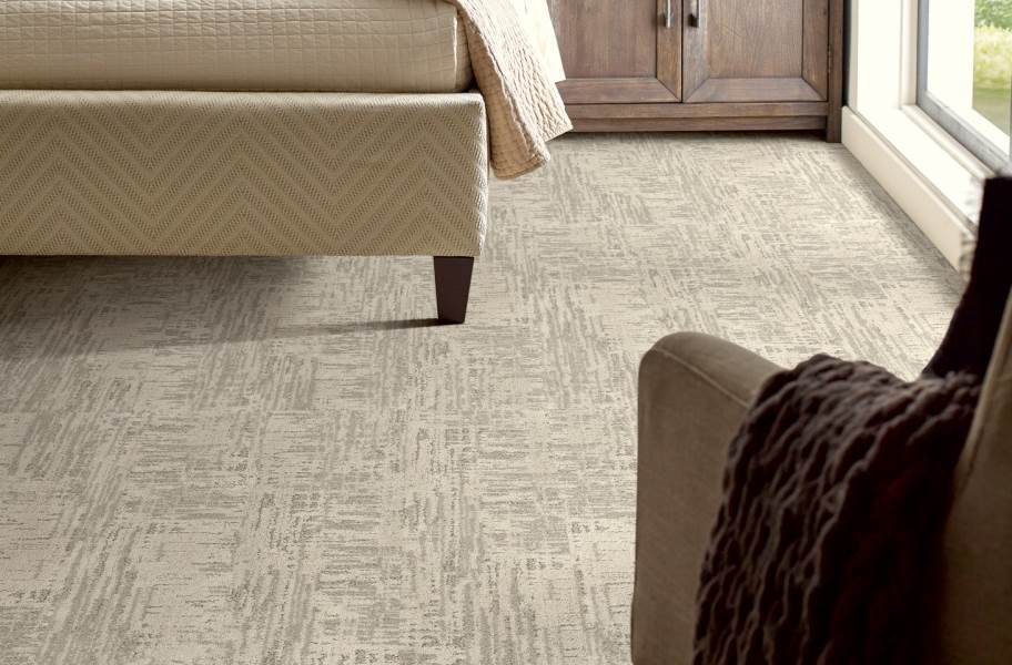 Shaw Floorigami Nature's Linen Carpet Plank - Cozy Taupe