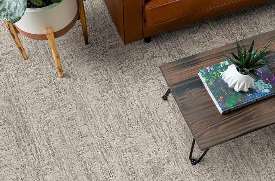 Shaw Floorigami Nature's Linen Carpet Plank - Moongaze