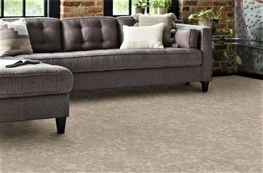Shaw Floorigami Woven Fringe Carpet Plank - Canvas