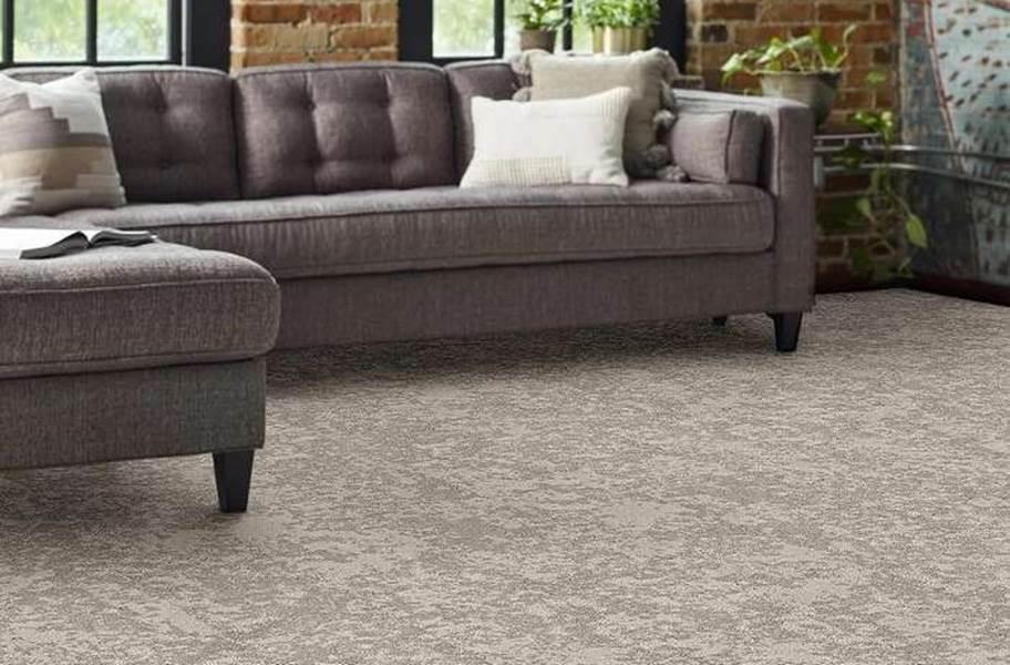Shaw Floorigami Woven Fringe Carpet Plank - Moongaze