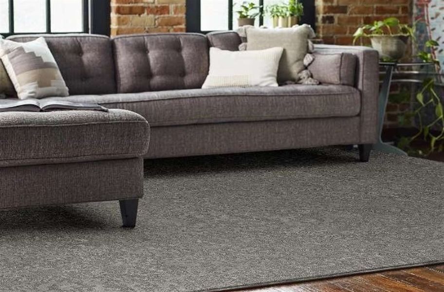 Shaw Floorigami Woven Fringe Carpet Plank - Nightfall