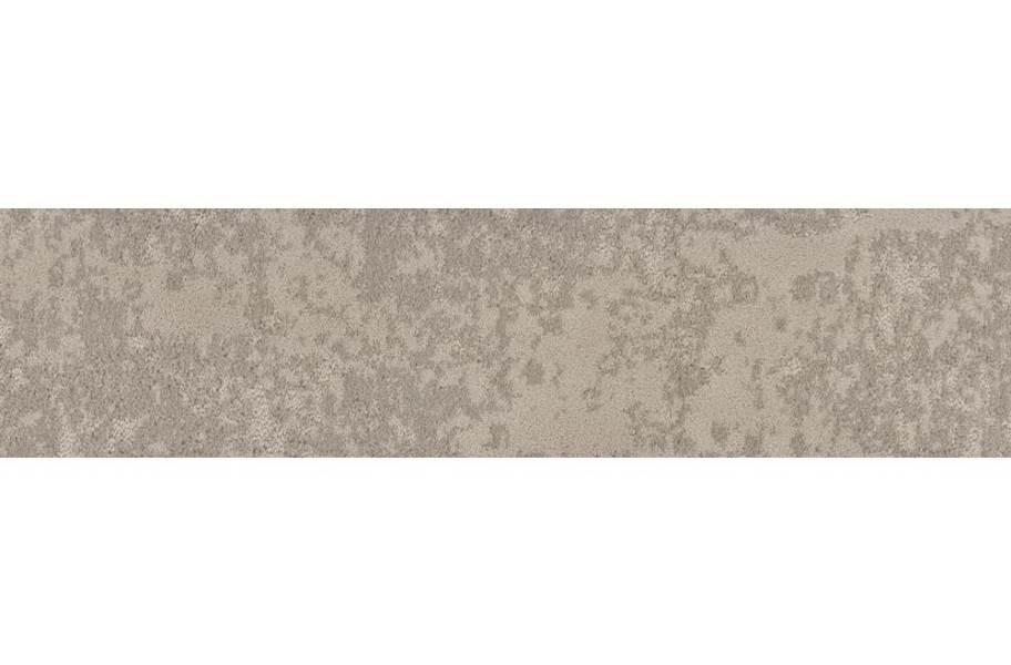 Shaw Floorigami Woven Fringe Carpet Plank - Cozy Taupe