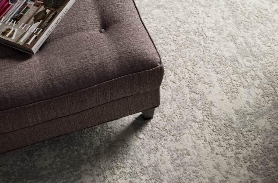 Shaw Floorigami Woven Fringe Carpet Plank - Snow Kissed