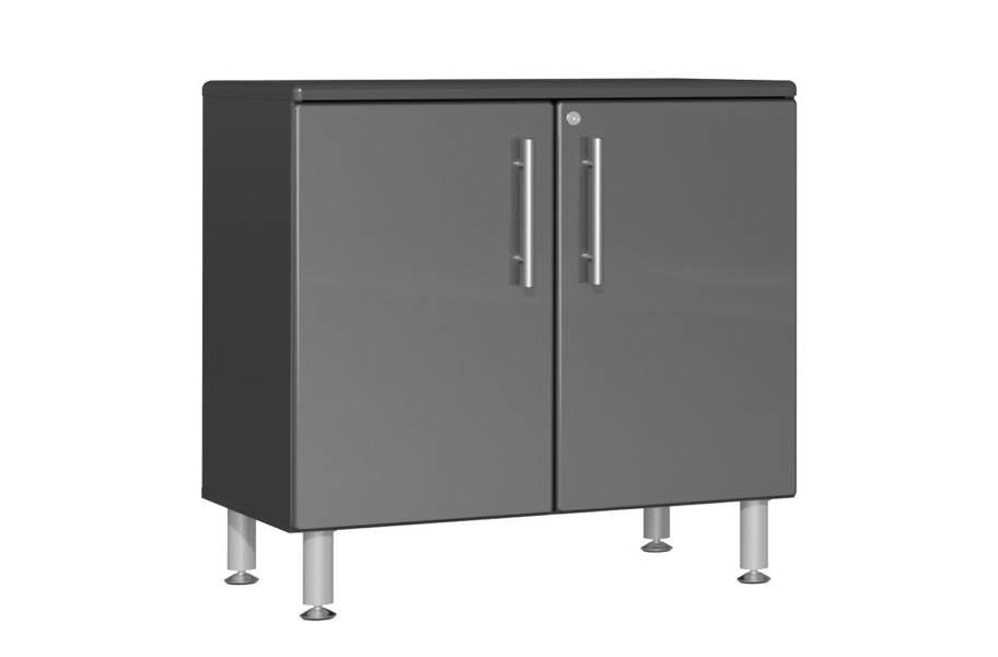 Ulti-MATE Garage 2.0 Oversized 2-Door Base Cabinet - Graphite Gray Metallic