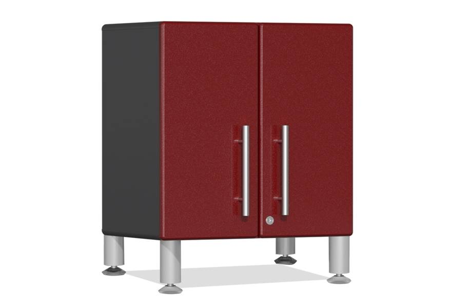 Ulti-MATE Garage 2.0 2-Door Small Base Cabinet - Ruby Red Metallic
