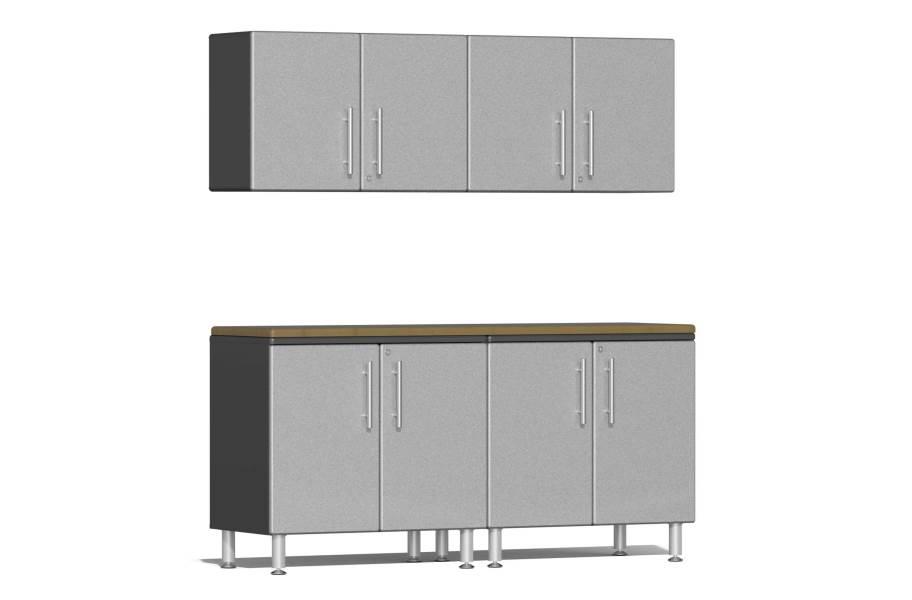 Ulti-MATE Garage 2.0 5-PC Kit w/Wall Cabinets - Stardust Silver Metallic