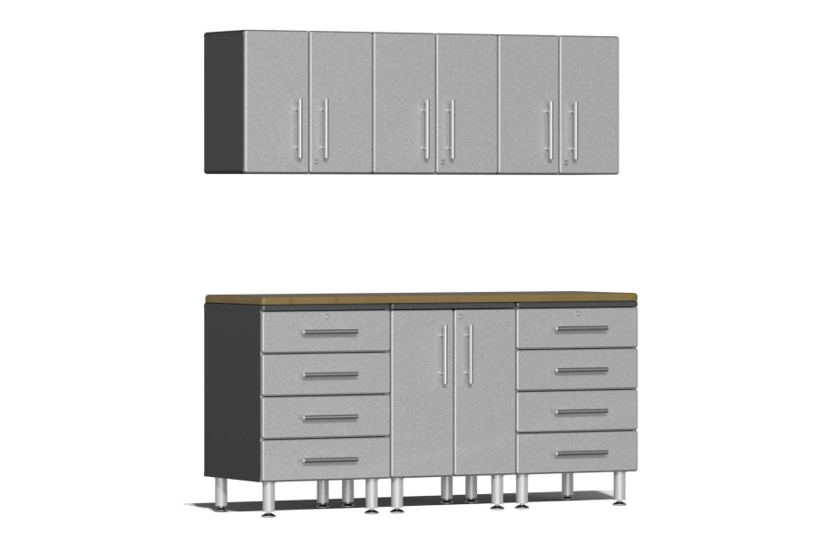 Ulti-MATE Garage 2.0 7-PC Kit w/Wall Cabinets - Stardust Silver Metallic
