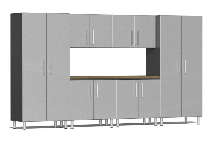 Ulti-MATE Garage 2.0 7-PC XL Kit w/ Workstation - Stardust Silver Metallic