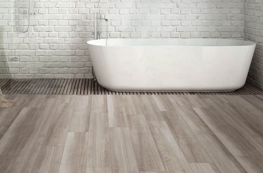 "Shaw Paladin Plus 7"" Rigid Core Vinyl Planks - Oyster Oak"