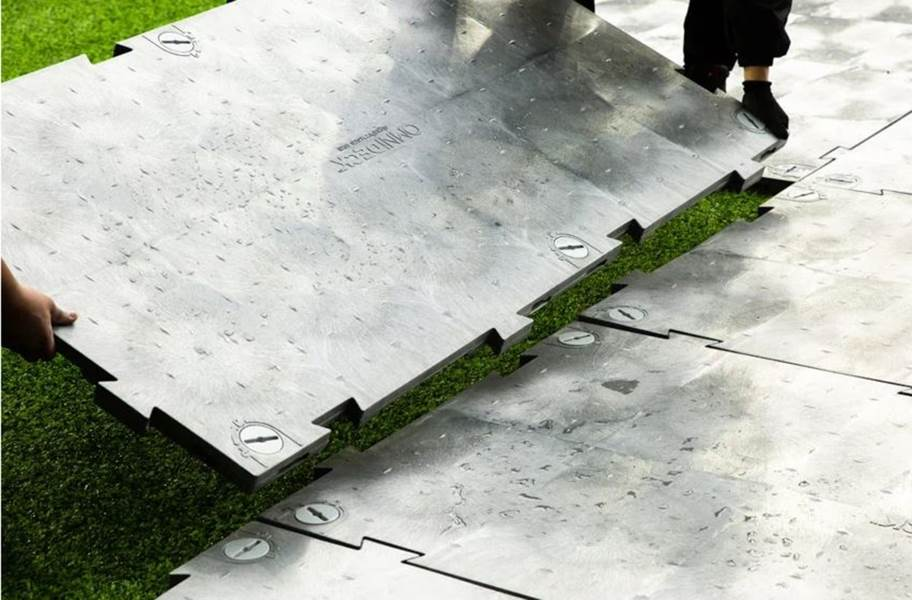 OmniDeck™ Ground Protection Panels - Anthracite (Non-Perforated)