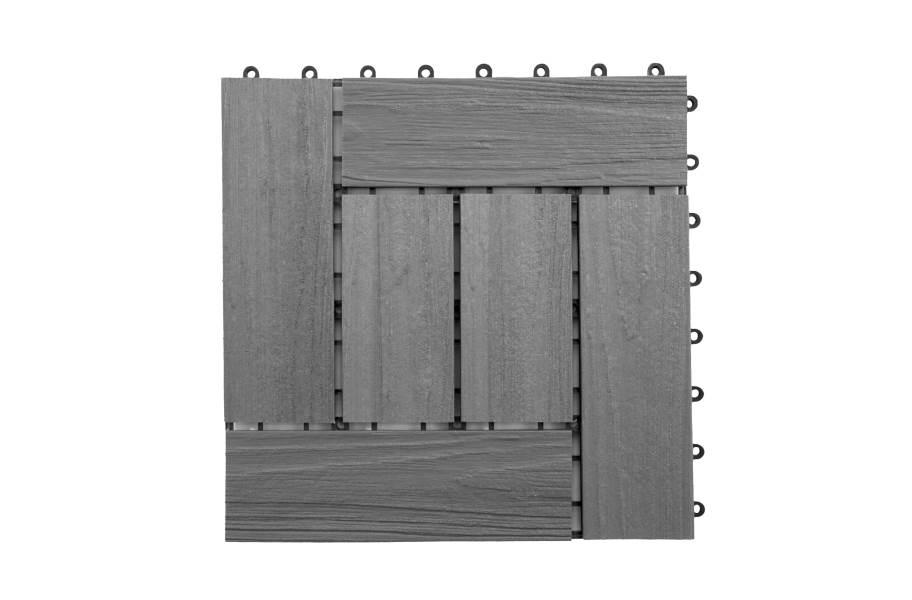 Helios Composite Deck Board Tiles (6 Slat) - Hawaiian Gray