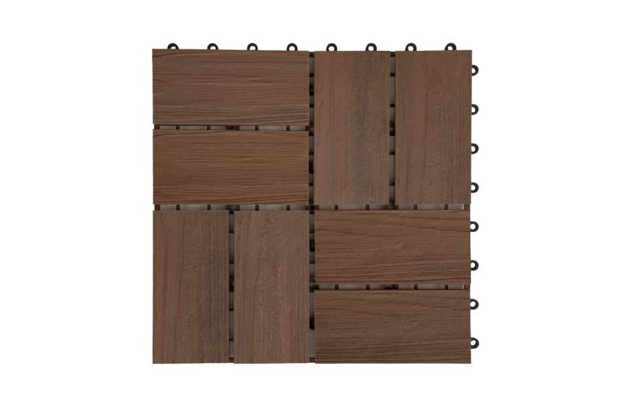 Helios Composite Deck Board Tiles (8 Slat) - Brazilian Brown