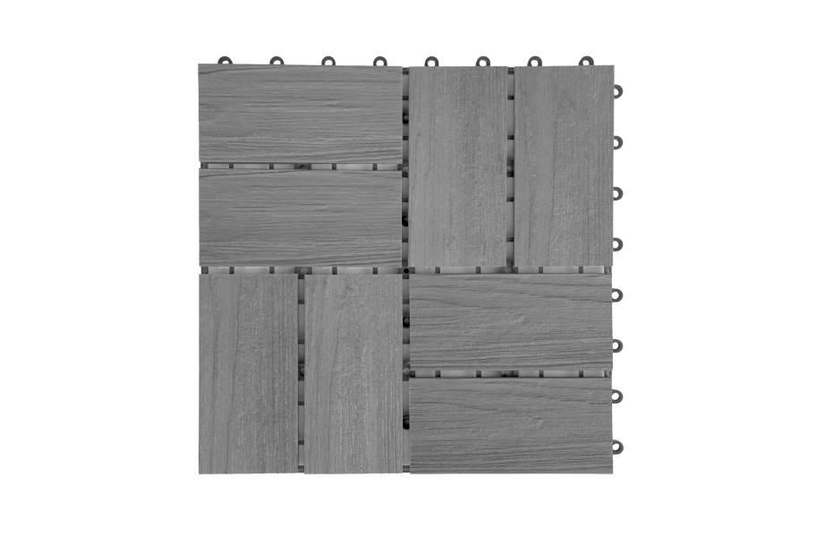 Helios Composite Deck Board Tiles (8 Slat) - Hawaiian Gray