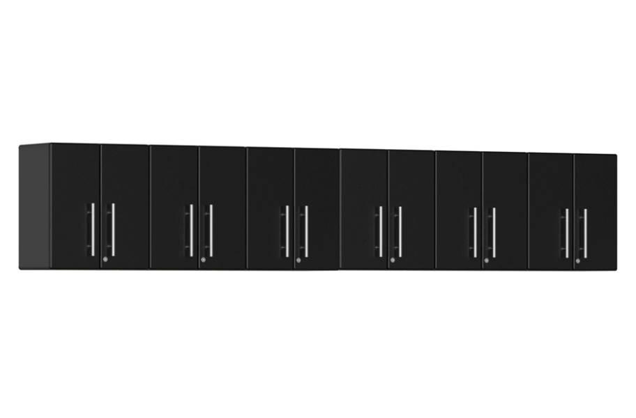 Ulti-MATE Garage 2.0 6-PC Wall Cabinet Kit - Midnight Black Metallic