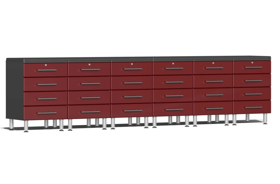 Ulti-MATE Garage 2.0 8-PC Workstation - Drawers - Ruby Red Metallic