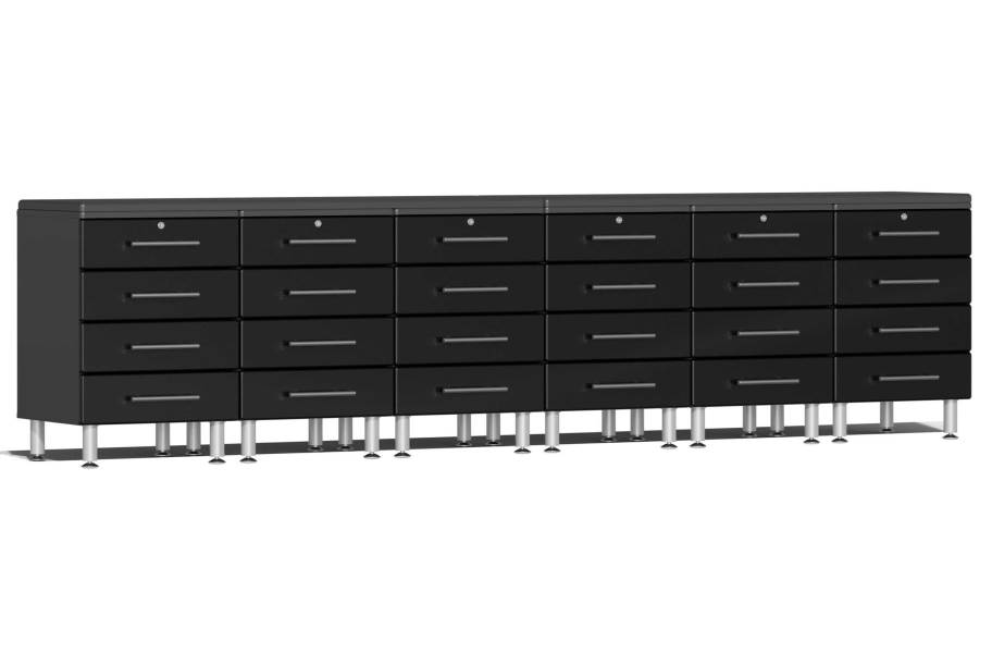 Ulti-MATE Garage 2.0 8-PC Workstation - Drawers - Midnight Black Metallic