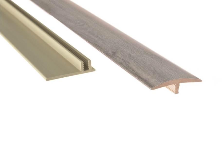 "NewAge 1.65"" x 46"" T-Molding & Track - Gray Oak"