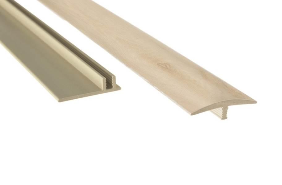 "NewAge 1.65"" x 46"" T-Molding & Track - White Oak"
