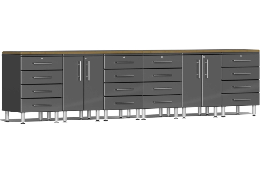 Ulti-MATE Garage 2.0 8-PC Workstation Set - Combo  - Graphite Gray Metallic