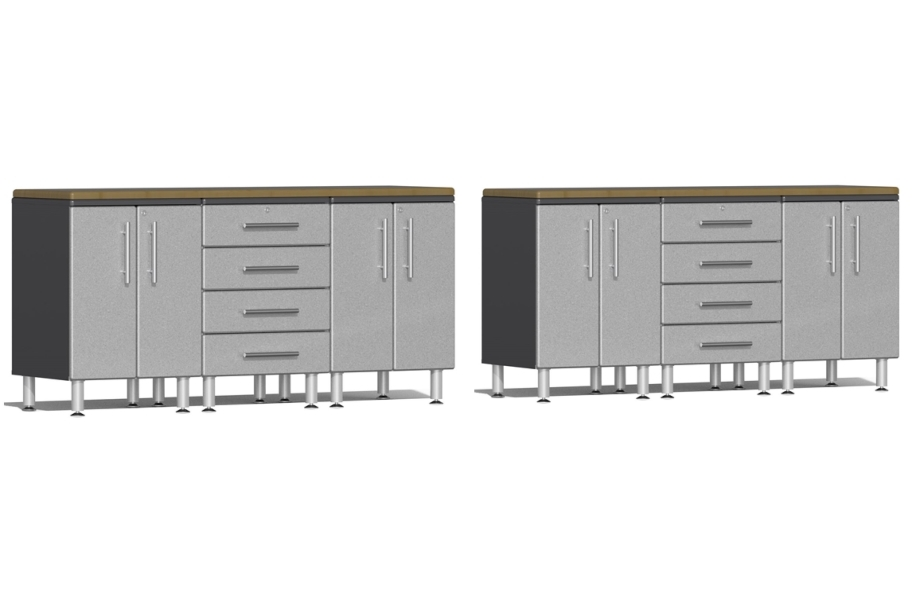 Ulti-MATE Garage 2.0 8-PC Workstation Set - Combo  - Stardust Silver Metallic