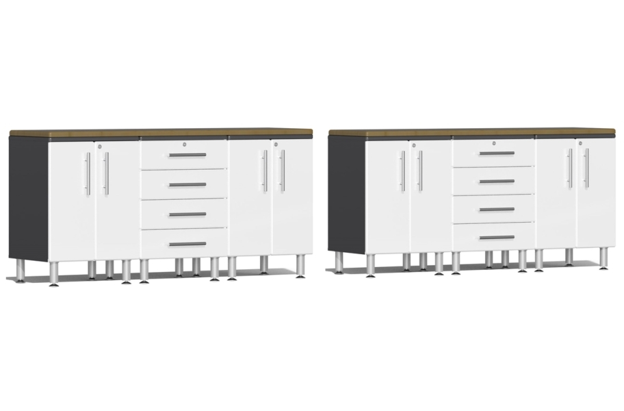 Ulti-MATE Garage 2.0 8-PC Workstation Set - Combo  - Starfire White Metallic